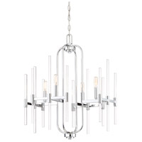Pillar 4 Light 22 inch Chrome Chandelier Ceiling Light