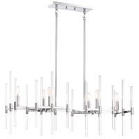 Pillar 6 Light 38 inch Chrome Island Light Ceiling Light