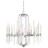 Pillar 6 Light 26 inch Chrome Chandelier Ceiling Light