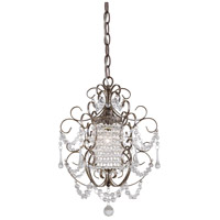 Signature 1 Light 11 inch Westport Silver Mini Chandelier Ceiling Light