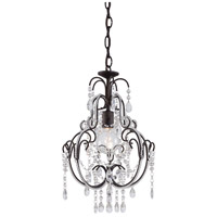 Signature 1 Light 13 inch Taylor Bronze Mini Chandelier Ceiling Light