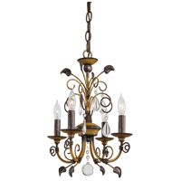 Signature 4 Light 13 inch Belcaro Walnut Mini Chandelier Ceiling Light