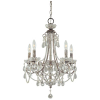 Signature 5 Light 19 inch Distressed Silver Mini Chandelier Ceiling Light