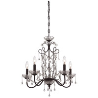 Signature 5 Light 22 inch Kinston Bronze Mini Chandelier Ceiling Light
