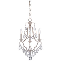 Signature 3 Light 14 inch Provencal Blanc Mini Chandelier Ceiling Light