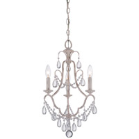 Minka-Lavery Signature 3 Light Mini Chandelier in Provencal Blanc 3137-648