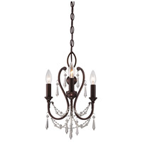 Signature 3 Light 12 inch Vintage Bronze Mini Chandelier Ceiling Light