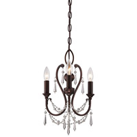 Minka-Lavery Signature 3 Light Mini Chandelier in Vintage Bronze 3138-284