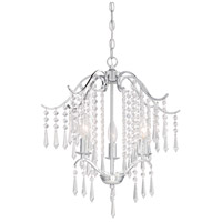 Signature 3 Light 18 inch Chrome Mini Chandelier Ceiling Light