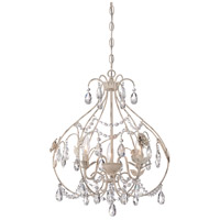 Signature 3 Light 18 inch Provencal Blanc Mini Chandelier Ceiling Light