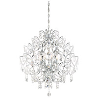 Isabellas Crown 8 Light 26 inch Chrome Chandelier Ceiling Light
