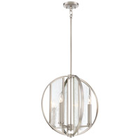 Minka-Lavery 3165-84 Via Capri 4 Light 18 inch Brushed Nickel Pendant Ceiling Light