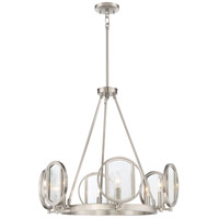 Via Capri 6 Light 26 inch Brushed Nickel Chandelier Ceiling Light