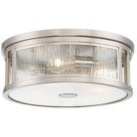 Minka-Lavery 3168-84 Via Capri 3 Light 16 inch Brushed Nickel Flush Mount Ceiling Light