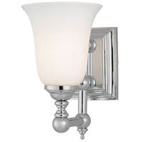 Tafalla 1 Light 6 inch Chrome Bath Bar Wall Light
