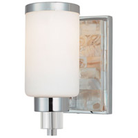 Minka-Lavery Cashelmara 1 Light Bath in Chrome w/Natural Shell 3241-77