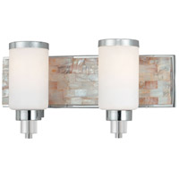 Minka-Lavery Cashelmara 2 Light Bath in Chrome w/Natural Shell 3242-77