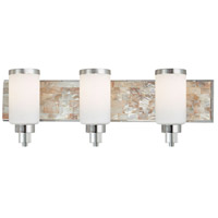Cashelmara 3 Light 26 inch Chrome w/Natural Shell Bath Wall Light