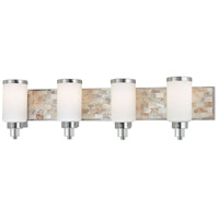 Minka-Lavery Cashelmara 4 Light Bath in Chrome w/Natural Shell 3244-77