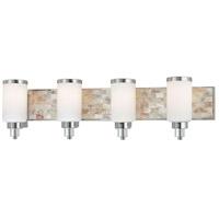 Minka-Lavery 3244-77 Cashelmara 4 Light 34 inch Chrome Bath Bar Wall Light