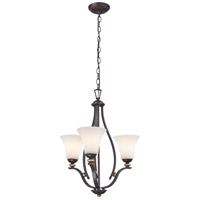 Shadowglen 3 Light 20 inch Lathan Bronze/Gold Chandelier Ceiling Light