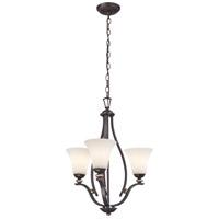 Minka-Lavery 3283-589 Shadowglen 3 Light 20 inch Lathan Bronze/Gold Chandelier Ceiling Light
