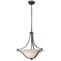 Minka-Lavery 3284-589 Shadowglen 3 Light 21 inch Lathan Bronze with Gold Pendant Ceiling Light