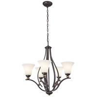 Minka-Lavery 3285-589 Shadowglen 5 Light 26 inch Lathan Bronze/Gold Chandelier Ceiling Light