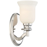 Audreys Point 1 Light 5 inch Polished Nickel Bath-Bar Lite Wall Light