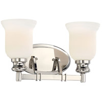 Minka-Lavery Audreys Point 2 Light Bath-Bar Lite in Polished Nickel 3292-613