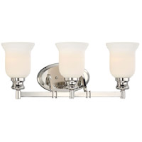 Audreys Point 3 Light 22 inch Polished Nickel Bath Bar Wall Light