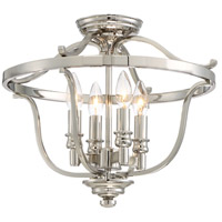 Audreys Point 4 Light 17 inch Polished Nickel Semi Flush Mount Ceiling Light
