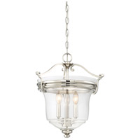 Minka-Lavery 3297-613 Audreys Point 3 Light 16 inch Polished Nickel Pendant Ceiling Light Convertible To Semi-Flush