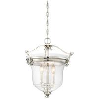 Minka-Lavery 3297-613 Audreys Point 3 Light 16 inch Polished Nickel Pendant Ceiling Light Convertible To Semi Flush