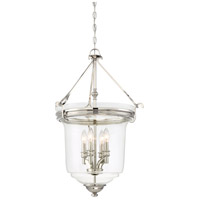 Audreys Point 4 Light 20 inch Polished Nickel Pendant Ceiling Light, Convertible To Semi-Flush