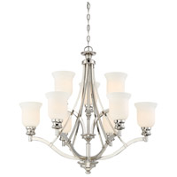Minka-Lavery 3299-613 Audreys Point 9 Light 31 inch Polished Nickel Chandelier Ceiling Light