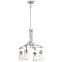 Poleis 4 Light 21 inch Brushed Nickel Chandelier Ceiling Light