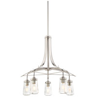 Poleis 5 Light 27 inch Brushed Nickel Chandelier Ceiling Light