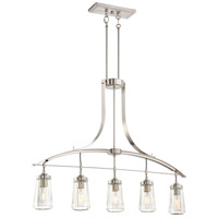 Minka-Lavery Poleis 5 Light Island Lite in Brushed Nickel 3306-84