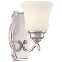 Savannah Row 1 Light 6 inch Brushed Nickel Bath Bar Wall Light