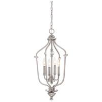 Minka-Lavery 3331-84 Savannah Row 4 Light 13 inch Brushed Nickel Foyer Chandelier Ceiling Light