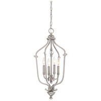 Savannah Row 4 Light 13 inch Brushed Nickel Chandelier Ceiling Light