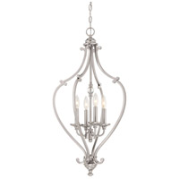 Savannah Row 4 Light 17 inch Brushed Nickel Chandelier Ceiling Light