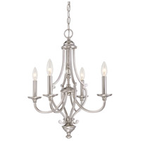 Savannah Row 4 Light 20 inch Brushed Nickel Chandelier Ceiling Light