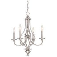 Minka-Lavery 3334-84 Savannah Row 4 Light 20 inch Brushed Nickel Chandelier Ceiling Light