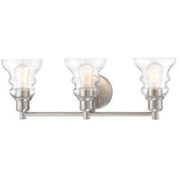 Minka-Lavery 3353-84 Waterbury 3 Light 25 inch Brushed Nickel Bath Light Wall Light