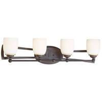 Middletown 4 Light 31 inch Downton Bronze/Gold Bath Bar Wall Light