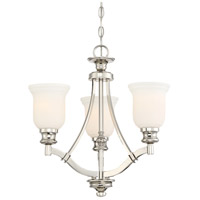 Audreys Point 3 Light 20 inch Polished Nickel Chandelier Ceiling Light