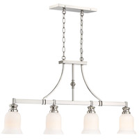 Minka-Lavery Audreys Point 4 Light Chandelier in Polished Nickel 3404-613