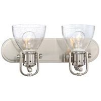 Minka-Lavery Signature 2 Light Bath-Bar Lite in Brushed Nickel 3412-84